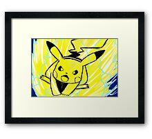 Pikachu Volt Tackle  Framed Print