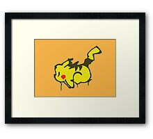 Pikachu Graffiti Framed Print