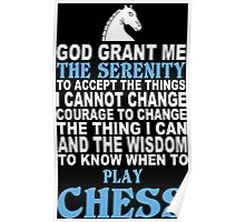 Funny Chess Tshirts Poster