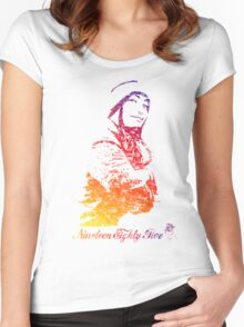Vintage 85 - Smiling Women's Fitted Scoop T-Shirt