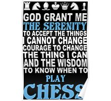 Funny Chess Tshirts, Mobile Covers and Posters Poster