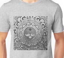 Silver Yin Yang Metallic Unisex T-Shirt