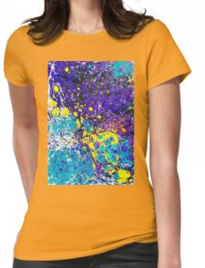 Abstract ebru Womens Fitted T-Shirt