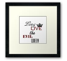 The evil queen once upon a time Framed Print
