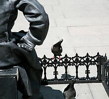 Intrigued Pigeons by lousutherland