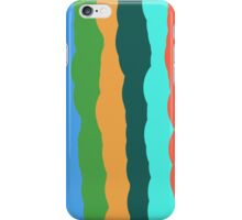 Overlapping Stripes in a Squiggle Pattern iPhone Case/Skin