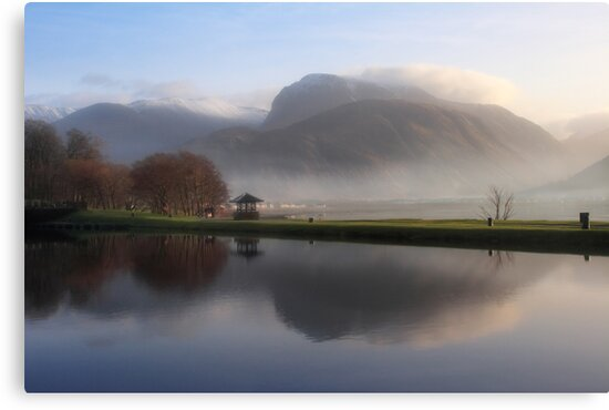 Ben Nevis from the Corpach Basin, Caledonian Canal, Scotland. by PhotosEcosse