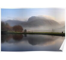 Ben Nevis from the Corpach Basin, Caledonian Canal, Scotland. Poster