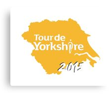 Tour de Yorkshire 2015 white Canvas Print