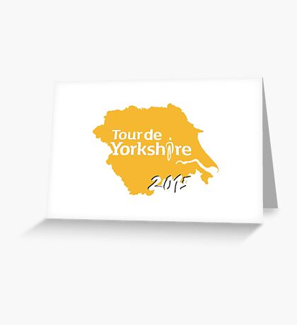 Tour de Yorkshire 2015 white Greeting Card
