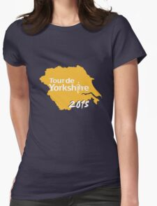 Tour de Yorkshire 2015 white Womens Fitted T-Shirt