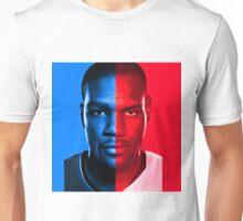 Kevin Durant LeBron James Face Off Mash Up T-Shirt Unisex T-Shirt
