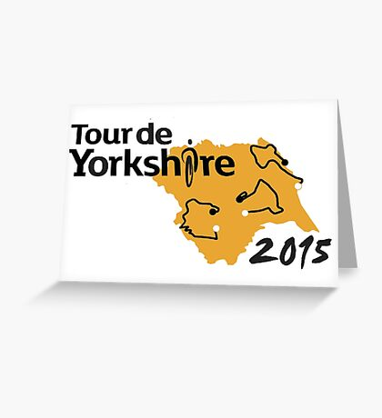 Tour de Yorkshire 2015 Route Greeting Card