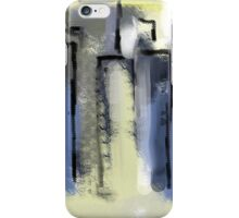 City in Pastel Blues and Yellows iPhone Case/Skin