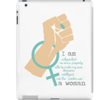 I Am A Woman Feminism Design (POC fair) iPad Case/Skin
