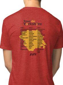 Tour de Yorkshire 2015 Tour - On back Tri-blend T-Shirt