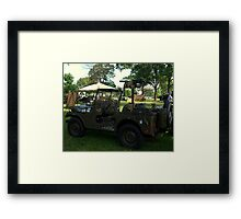 Military Jeep With Swivel Pod Mounted 30 cal. Machine Gun Framed Print