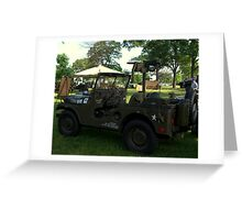 Military Jeep With Swivel Pod Mounted 30 cal. Machine Gun Greeting Card