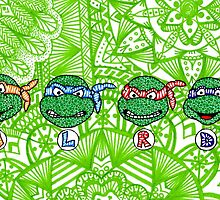 Teenage Mutant Ninja Turtles Zentangle by LeonniesArt