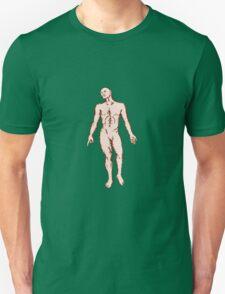 Gross Anatomy Male Standing Woodcut T-Shirt
