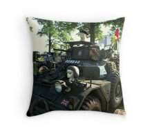 1956 Diamler Scout Military Vehicle Throw Pillow