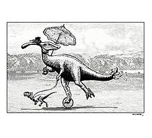 Parasaur wearing Pedspeeds Photographic Print