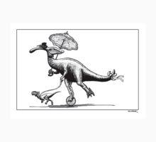 Parasaur wearing Pedspeeds T-Shirt