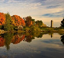 Morning Reflections of Autumn Colours on a Farm Pond by MarkEmmerson