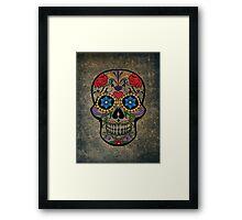 Skull Modern Art Framed Print