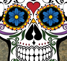 Skull Modern Art Sticker