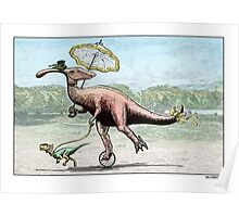 Parasaur wearing Pedspeeds Poster