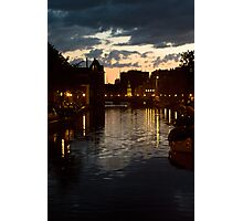 Canal At Dusk Photographic Print