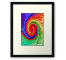 Ying Yang Rainbow Swirl Background Framed Print