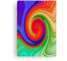 Ying Yang Rainbow Swirl Background Canvas Print