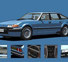 Rover Vitesse 1986 Moonraker Blue by DigitalCel
