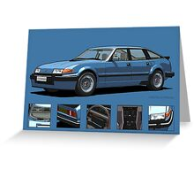 Rover Vitesse 1986 Moonraker Blue Greeting Card