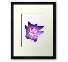 Space Galaxy Pokemon Gengar Framed Print