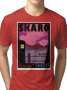 SKARO QUICKER BY TARDIS Tri-blend T-Shirt
