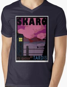SKARO QUICKER BY TARDIS Mens V-Neck T-Shirt