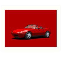 Mazda MX-5 Miata MK1 Classic Red Art Print