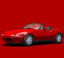Mazda MX-5 Miata MK1 Classic Red by DigitalCel