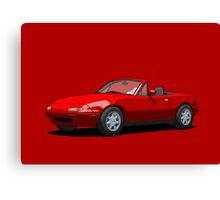 Mazda MX-5 Miata MK1 Classic Red Canvas Print