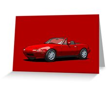 Mazda MX-5 Miata MK1 Classic Red Greeting Card