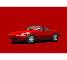 Mazda MX-5 Miata MK1 Classic Red Photographic Print