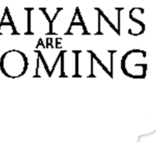 saiyans are coming Sticker