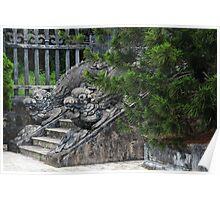 Dragon Stone Stairs - Hue, Vietnam. Poster
