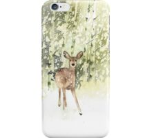Deer in the Snow iPhone Case/Skin