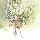 Deer in the Snow by Ray Shuell