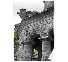 Dragon Stone Stairs II - Hue, Vietnam. Poster