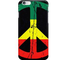 Rasta Peace - Distressed iPhone Case/Skin